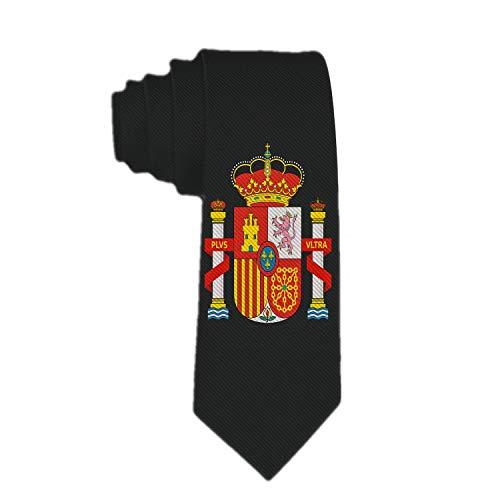 Royal Legacy Escudo clásico para hombre, corbata delgada de España, corbata delgada tejida flaca, corbata ecológica de moda para niños
