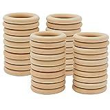 Wednesday( 30mm/40PCS)Aros de madera para manualidades/ artesanías , anillas madera bebe mordedor,asas para bolsos de madera/servilletero madera/argollas de madera para cortinas/ aros macrame