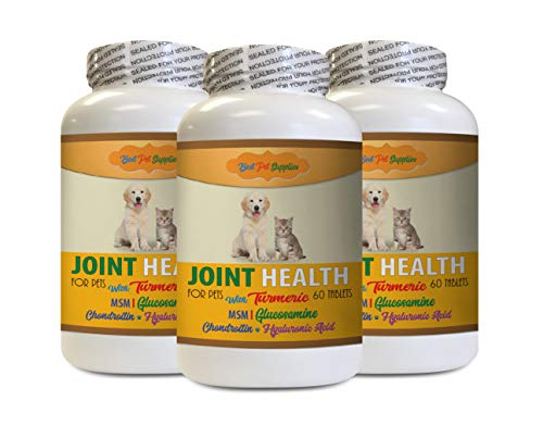 cat Turmeric - Pets Best Turmeric for Joint Health - for Dogs and Cats - Premium Joint Support - Hip and Joint Soft Chews - 180 Treats (3 Bottles)
