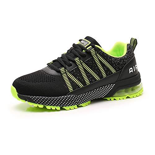 Scarpe da Corsa Uomo Donna Scarpe da Ginnastica Sportive Walking Jogging Athletic Fitness Outdoor Sneakers Green42