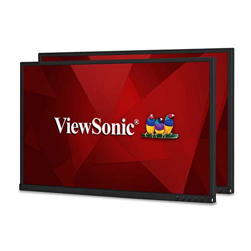 ViewSonic VG2248_H2 22 Inch Dual Pack Head-Only IPS 1080P Monitors with HDMI DisplayPort USB for Home and Office, Black