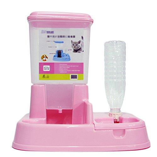 Scrox 1X 2 en 1 Dispensador automático de Alimentos para Perros y Gatos Combinación práctica Multifuncional de Alimentos y bebederos 35 * 27.5 * 35 cm