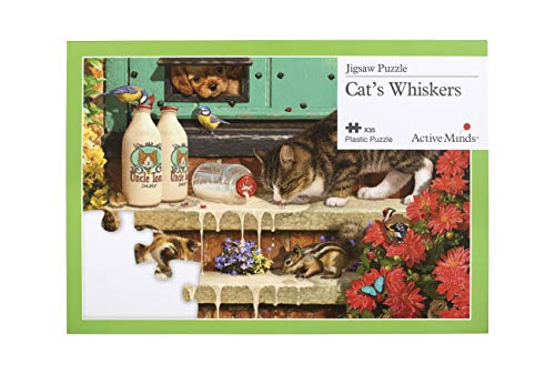 Active Minds 35 Piece Cat's Whiskers Jigsaw Puzzle | Specialist Alzheimer's/Dementia Activities & Games