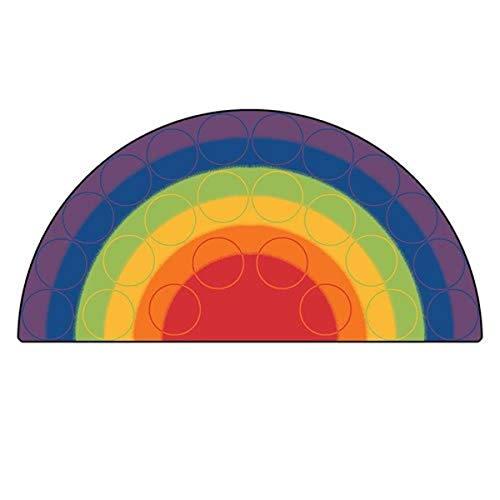 Big Sale Best Cheap Deals Rainbow Rows Corner Kids Rug Rug Size: 6' x 12'
