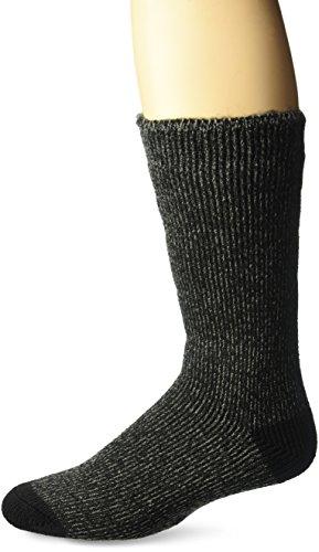 Muk Luks Men's Thermal Insulated Socks, Black, Sock Size:10-13/Shoe Size: 6-12
