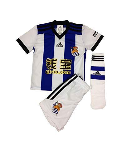 adidas Kinder Minikit Fußballtrikot Real Sociedad 140 cm blau