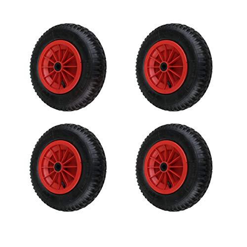 4 Stück 4.80/4.00-8, 400mm Schubkarrenräder Schubkarre Rad Wagen Räder Reifen