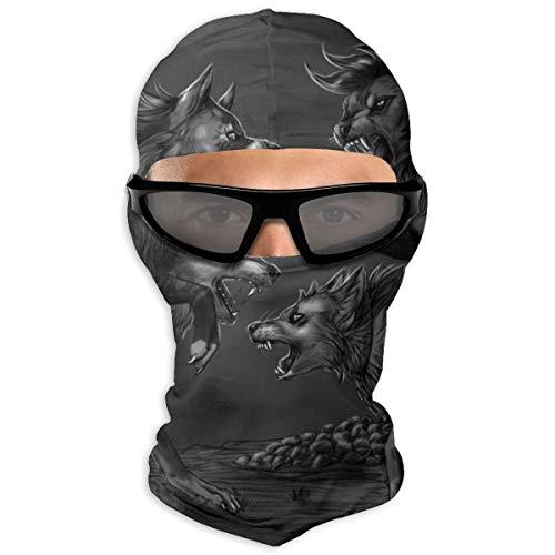 N/Een volledig gezichtsmasker twee pakketten van fantasie Canids vechten kap zonnebrandcrème masker dubbele laag koud voor mannen en vrouwen