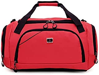 Men Package Male Big Crossbody Bags for Duffle Unisex Handbags Travel Shoulder Luggage Tote with Shoes StorageNew (Color : Red, Size : -)
