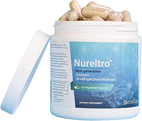 Nureltro® Next-Gen, Ultra-Premium, All-in-One Nootropic Brain Supplement | 27 Clinically Proven Natural Ingredients | Doctor Formulated for Optimal Cognitive Function & Brain Health (120 Capsules)