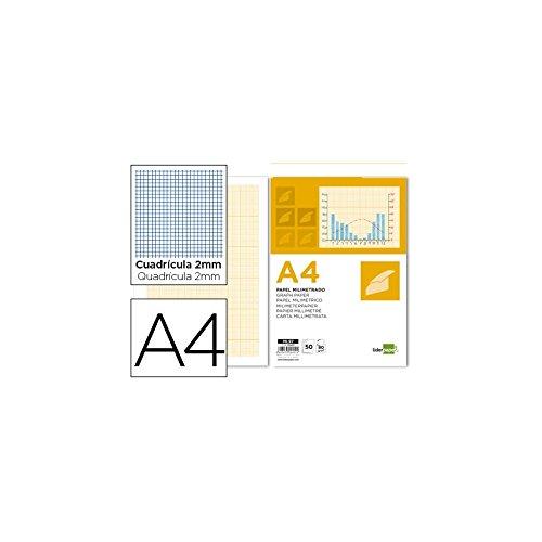 Liderpapel ML97 - Bloc papel milimetrado encolado
