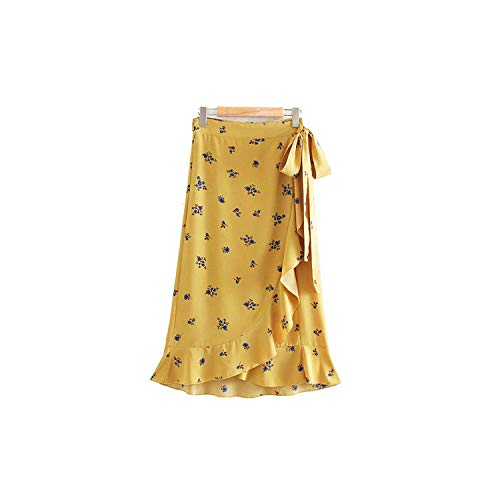 Midi Wrap Rok Strik Ontwerp Zoete Vrouwelijke Casual Wear Mid Calf A Line Rokken Ba655