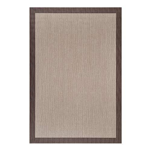 STORESDECO - Alfombra Vinílica Deblon, Alfombra de PVC Antideslizante y Resistente, Ideal para Salón, Pasillo, Cocina, Baño… | Color Marrón, 160 cm x 230 cm