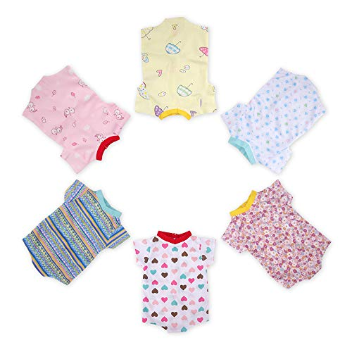 WakaoFeeling Baby Doll Clothes for 16-17-18 Inch Newborn Dolls Boy or Girl, Reborn Dolls Accessories Clothing Outfits for Baby Dolls,6 Pieces -  WF202007071618-4g