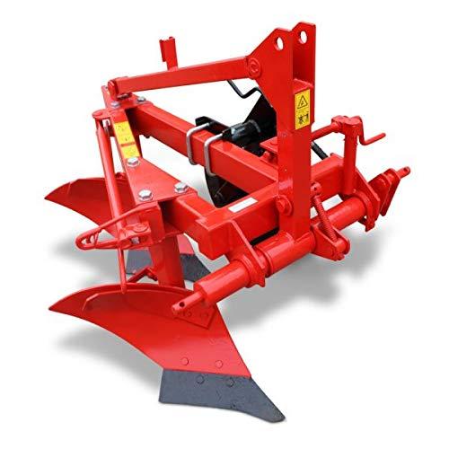 Wallentin & Partner | Zweischarpflug | 2 Schar Pflug 50 cm | Pflug Kleintraktor ab 30 PS | Zweischariger Pflug 150 kg | Zweischariger Pflug Traktor Dreipunktanbau Kat. 2