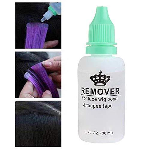 30ml Super Colle Remover Bond, Remover Bande Adhésif pour Dentelle Perruque Bond Colle et Bande Hair-Extensions