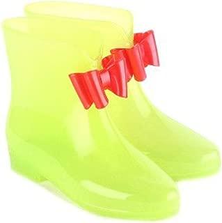 MEIGUIshop Rain Boots - Bow Pupils Transparent Non-Slip Jelly Short Tube rain Boots
