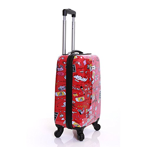 Karabar Hard Shell Cabin Bag Polycarbonate Hand Luggage Bag, Dewberry Red