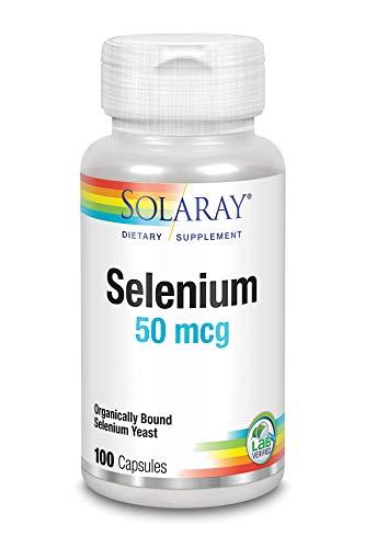 Solaray Selenium 50 mg   Selenio   100 VegCaps