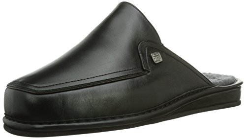 Fortuna Herren Turin Pantoffeln, Schwarz (schwarz/Bordo 304), 43 EU
