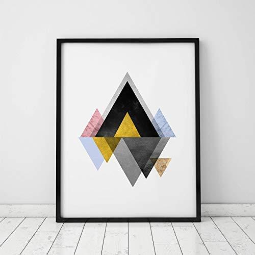 Geometric Art Print Bedroom Art Geometric Wall Art Abstract Art Print Triangle Marble Poster Scandinavian Wall Decor 8x10 inch Unframed