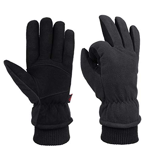 Winter Cold Weather Gloves Waterproof Genuine Deerskin Leather Cold Resistance -20℉
