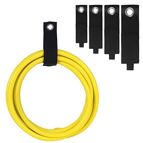 Cnloyua 12PCS fascette per cavi, chiusura a strappo stra cinghie per cavi riutilizzabili, cinghie di stoccaggio per carichi pesanti per cavi, tubi flessibili, corda, borsa, strumento (S + M + L + XL)