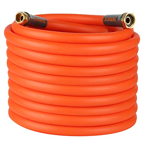 YAMATIC Kink Resistant Garden Hose 5/8 in x 100 ft, Heavy Duty Water Hose, Super Flexible, Lightweight, Burst 600 PSI