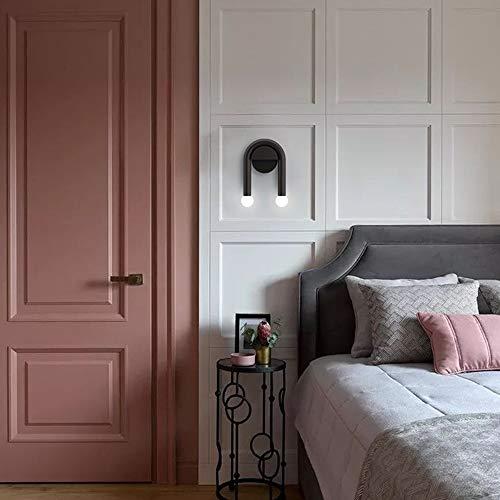 WarmHome Sala De Estar Creativa Dormitorio Estudio De Cabecera Hotel Pasillo Diseñador Lámpara De Pared Negra