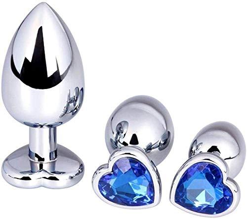 3 Pcs Set Änàles Plùgs Diamonds Design Luxury Gem Metal Jeweled Crystal Design Stainless Steel Bûtt Pl ugs for Women and Men Beginner Best Gift