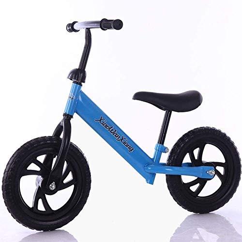 Bicicleta de equilibrio para niños sin pedal para edades de 3 a 6 años - Bicicleta de equilibrio para niños pequeños con campana de freno y canasta para que los niños aprendan a montar antes de la b