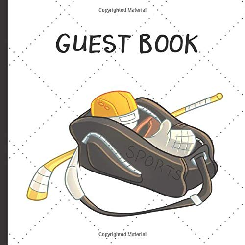 Guest Book: Gorgeous Hockey Theme Party Guest Book Includes Gift Tracker and Picture Memory Section (Hockey Party Guest Books, Band 1)