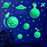 Glow in The Dark Stars for Ceiling, Solar System Wall Stickers for Kids, Planet Wall Decals, Glowing...