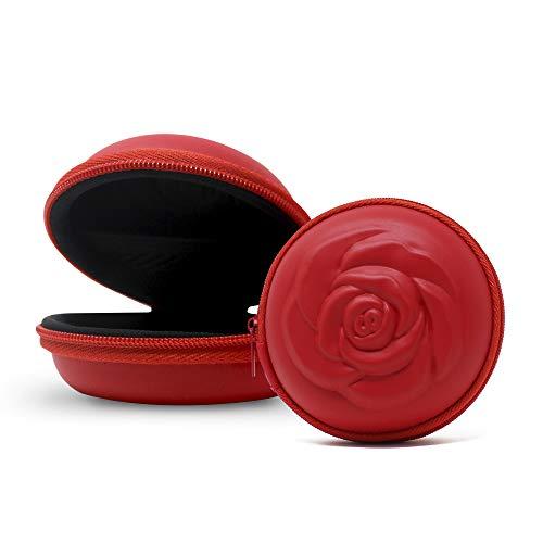 Sileu Case - Estuche para copas menstruales - Ideal para llevar tu tampón o copa menstrual de forma elegante y discreta en tu bolso o para viajes - Grande, 10 cm - Rojo