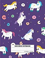 Unicorns notebook: exercise book , dotted midline with story picture space,primary writing journal,notebook journal for kids ,50sheets 100 pages
