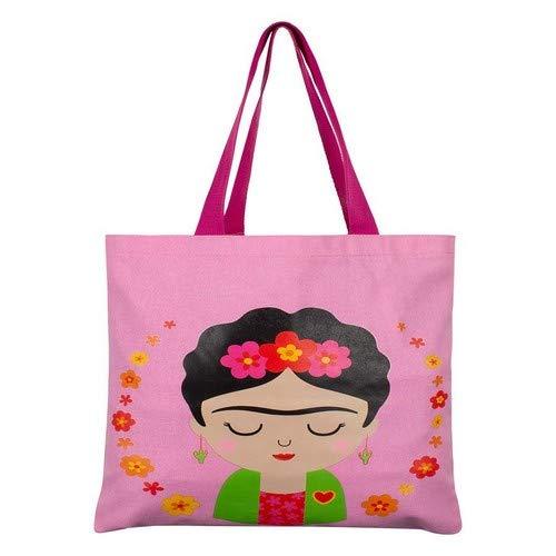 Sass & Belle Bolsa Frida Kahlo Rosa, Multicolor, Único