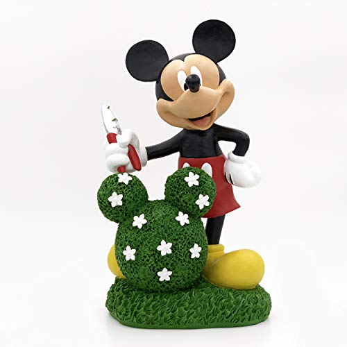 The Galway Company Large Mickey Mouse Topiary Garden Statue, Official Disney Product, Large 14 Inches Tall and 7 Inches Wide, Made of Stone Resin.