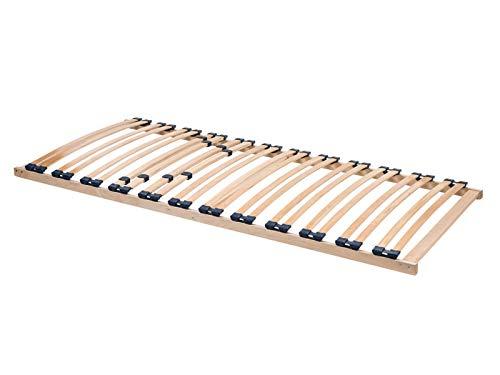 ACAZA Sommier à Lattes Optima 90x200 cm Cadre 1 Personne 24 Lattes en Hêtre Stratifié. Confortable et Solide