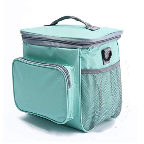Bolsa Isotérmica De Almuerzo Lunch Bag Bolsa Térmica Porta Alimentos Tela Impermeable Plegable Bolso De Picnic Para Mujeres, Adultos, Estudiantes Y Niños,26x23x16cm