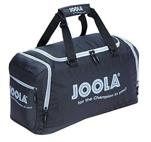 JOOLA Sporttasche TOUREX Reisetasche Mittelgroße Tischtennis-Tasche mit Hauptfach und Nebenfach, Grau/Schwarz, 60 x 35 x 27 cm