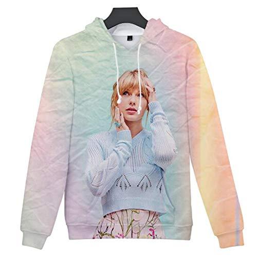 Camiseta Casual de Manga Larga HJN Sudadera con Capucha Taylor Swift