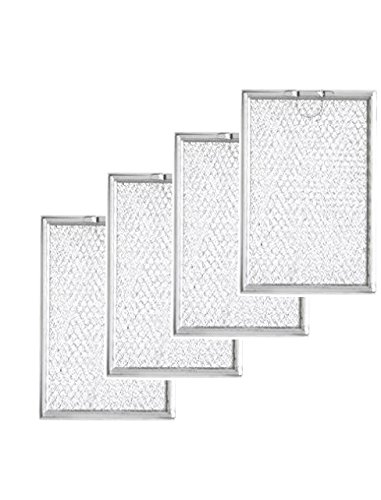Nispira Replacement Microwave Grease Filter Compatible with GE WB06X10309 - 4 Filters