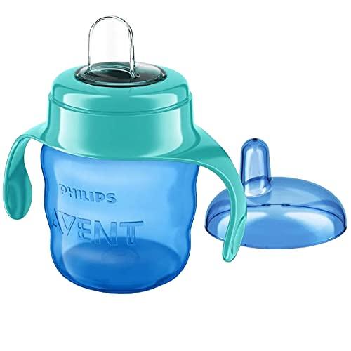 Philips Avent SCF551/05 - Vaso con boquilla de silicona para niño, válvula antigoteo, sin...