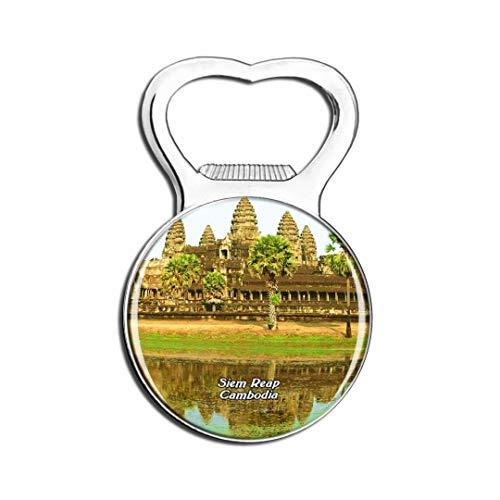 Weekino Kambodscha Angkor Wat SIEM Reap Kühlschrankmagnet Bier Flaschenöffner Stadt Reise Souvenir Sammlung Starker Kühlschrankaufkleber