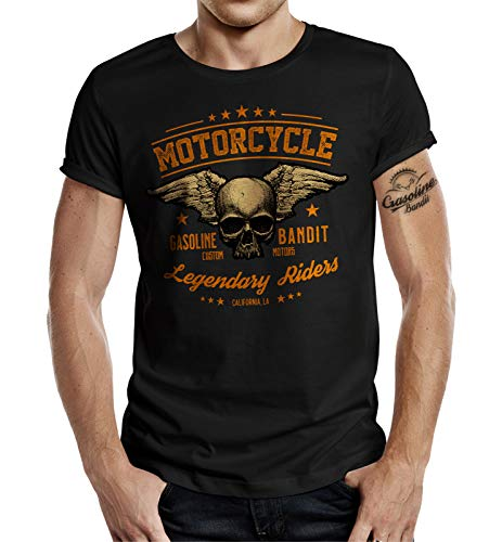 Gasoline Bandit Biker Racer T-Shirt - Legendary Riders M