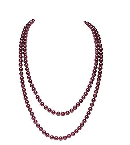 WYFLL Accesorios personalizados, accesorios de moda, collares de perlas, 1 frontera europea y americana exclusivamente para prendas largas y versátiles