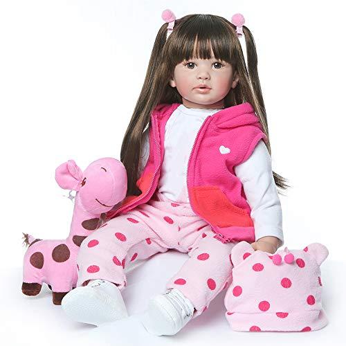 Zero pam Reborn Baby Dolls 24 Inch 60cm Soft Silicone Reborn Toddler Girl...