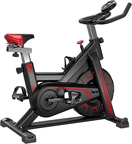 XiuLi Bicicletas estáticas Bicicleta estática de Ciclismo Interior de Resistencia magnética con Volante de 22 Libras, Soporte para Tableta y cómodo cojín de Asiento