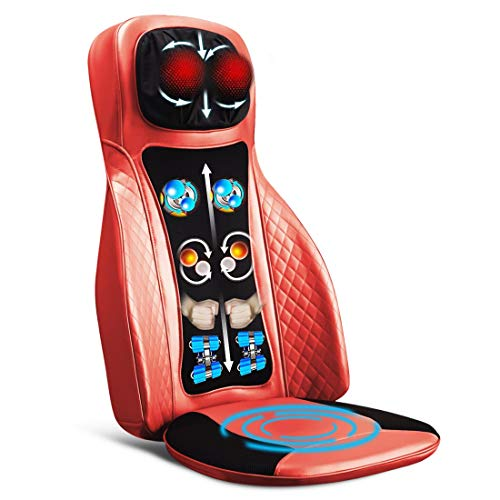 JSB HF154 Back Neck Kneading & Tapping Massager with Heat for Car Seat & Office Chair (ABS Railings) (Orange)