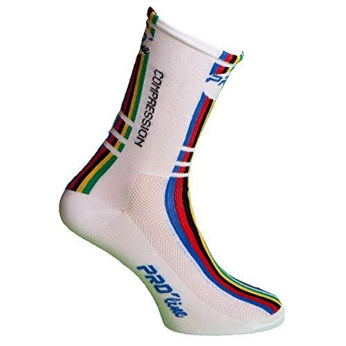 PRO' line Calze Calzini Ciclismo PROLINE Iride Compression Cycling Socks 1 Paio One Size